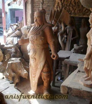 patung dewa kayu