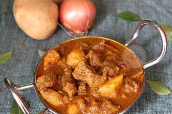 Kerala Style Beef with Potato Curry - Beef Kizhangu Curry