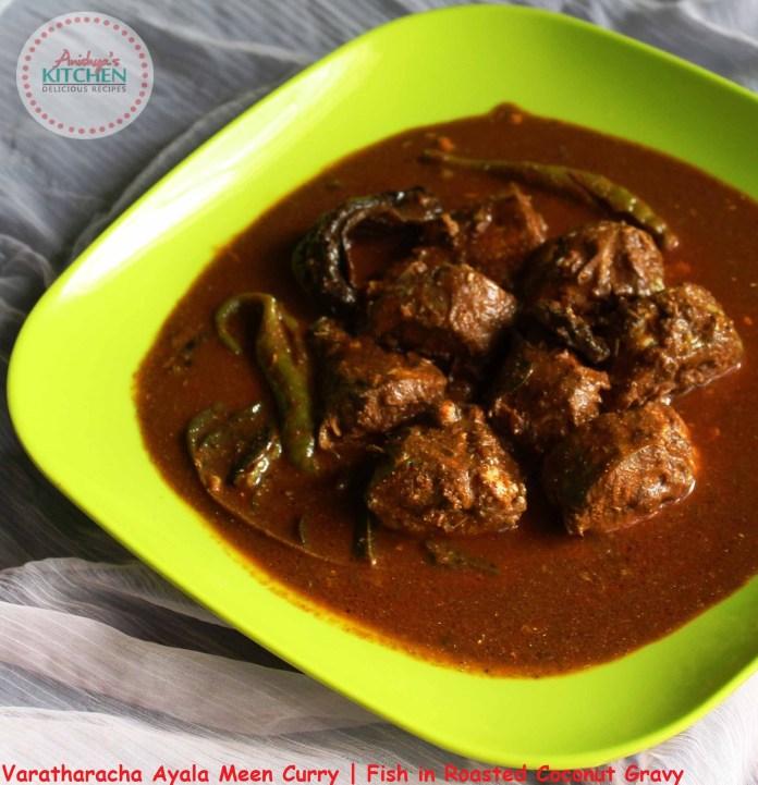 Kerala Style Varautharacha Ayala Meen Curry