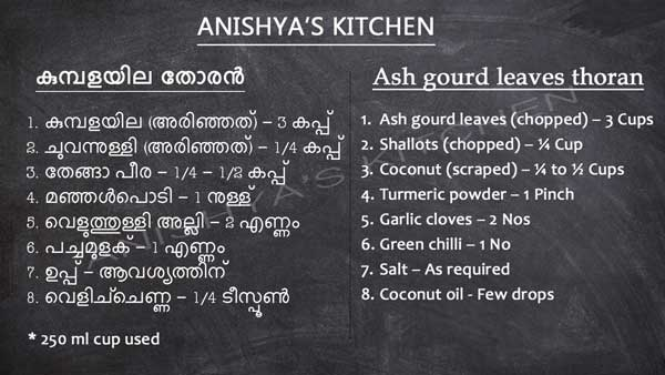 Kumbala-ila-kumbalayila-kumbalangayila-thoran-ash-gourd-leaves-thoran-recipe