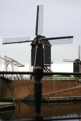 sementara yang ini fokusnya ke belakang (on the windmills).
