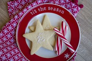 Sable pastry Christmas cookies
