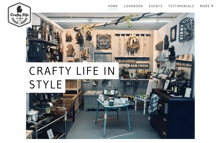 retail shop website built with GoDaddy