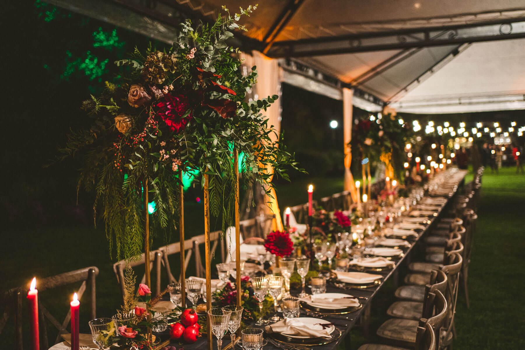 tavolo imperiale del matrimonio
