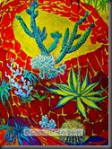 This image is shown in the 1975 Courtauld Exhibition Catalogue - Cacti - Cartoon for a tapestry,  dated January, 1955
