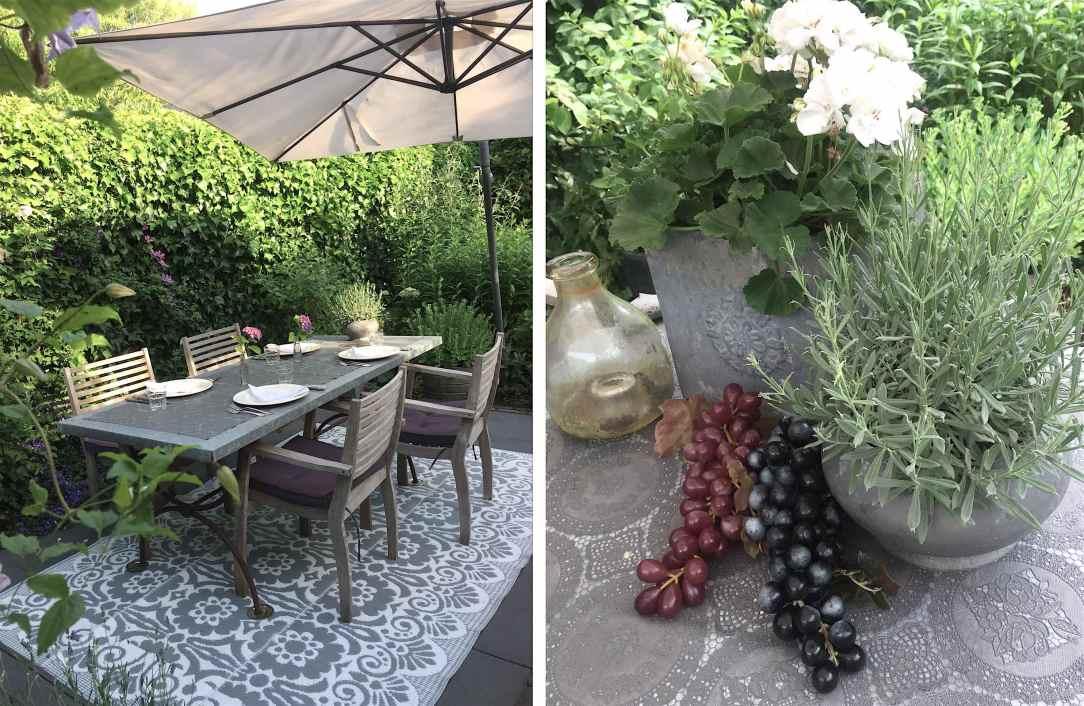 Eettafel in de tuin
