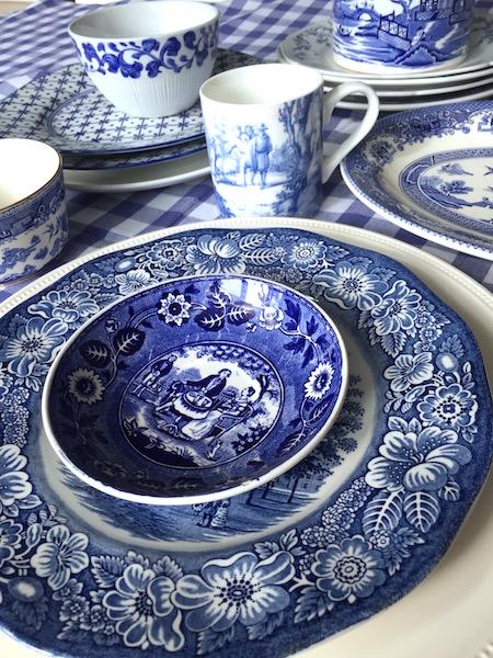 blauw:wit servies