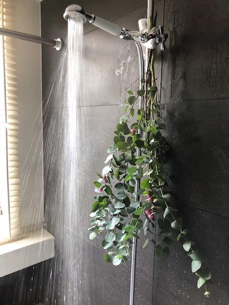 badkamer winterklaar met eucalyptus