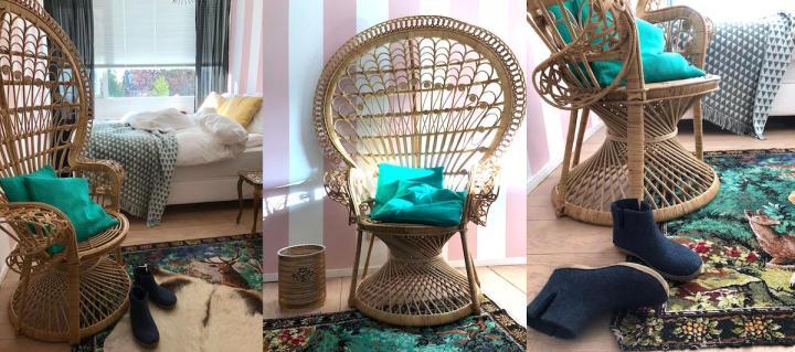 'Peacock chair' cadeau na weekend klussen
