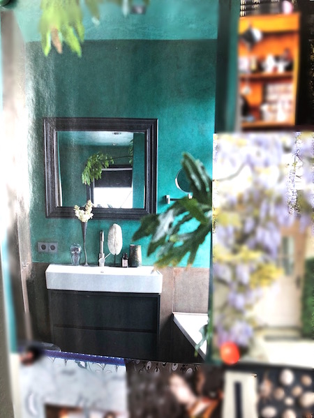badkamer groen verven