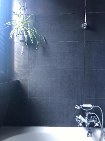 groene badkamer bad en plant