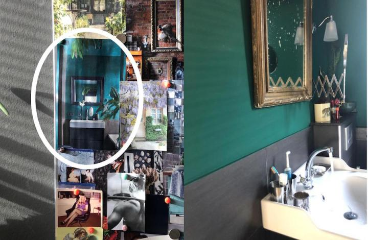moodboard-groene badkamer