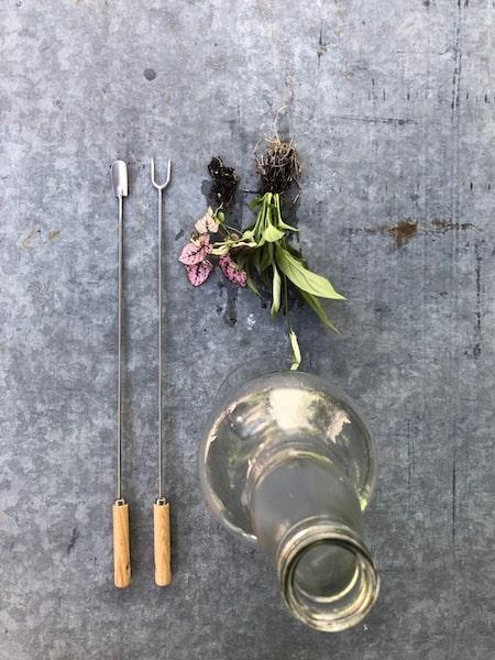 gereedschap voor bottle garden