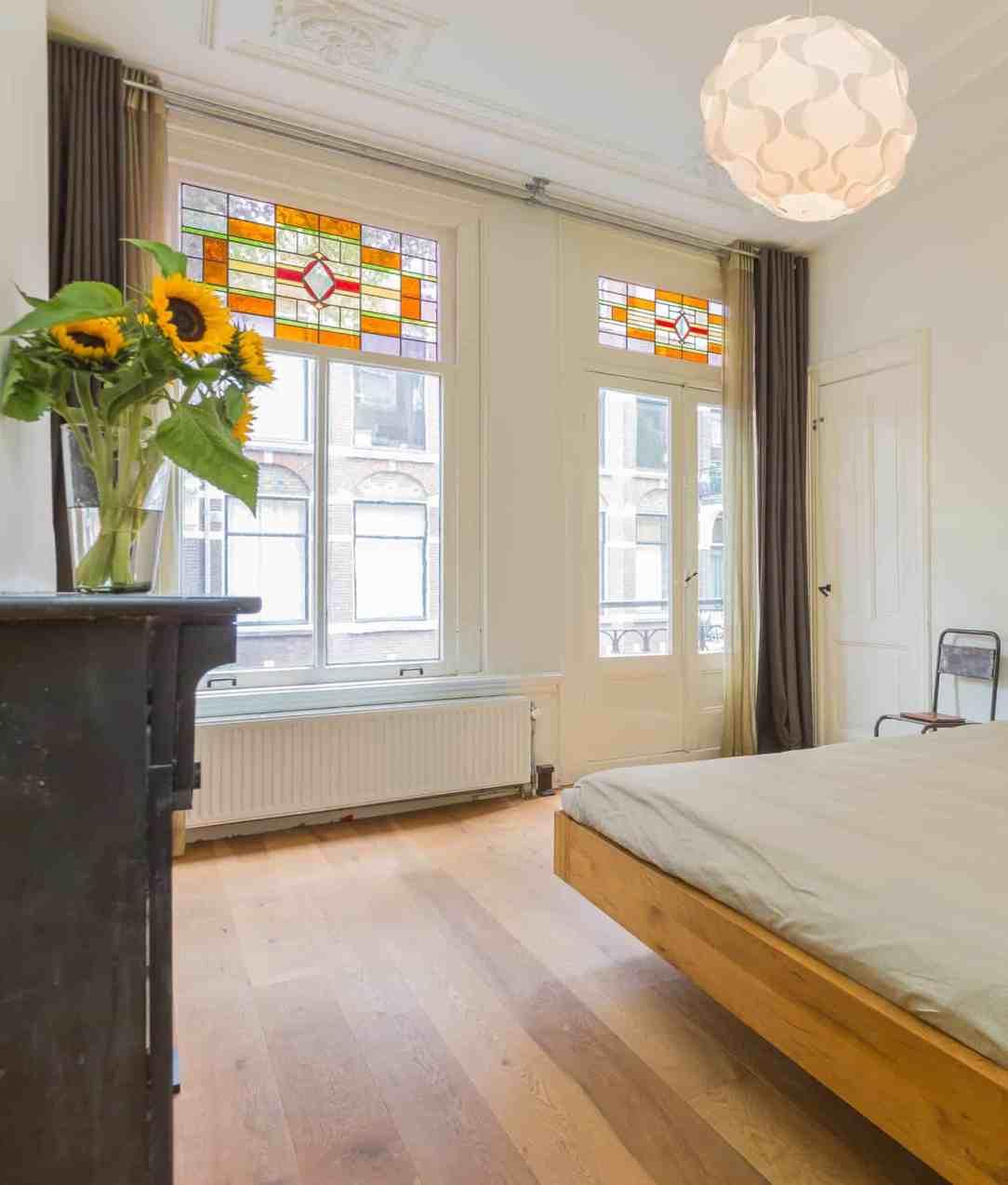 Authentieke ramen in Amsterdams appartement