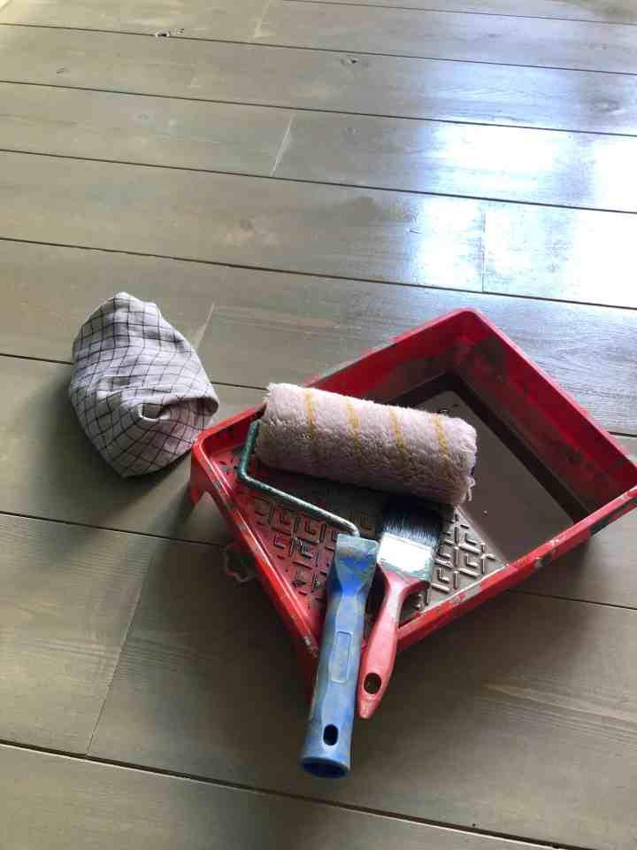 hardwaxolie voor grey-washen vloer
