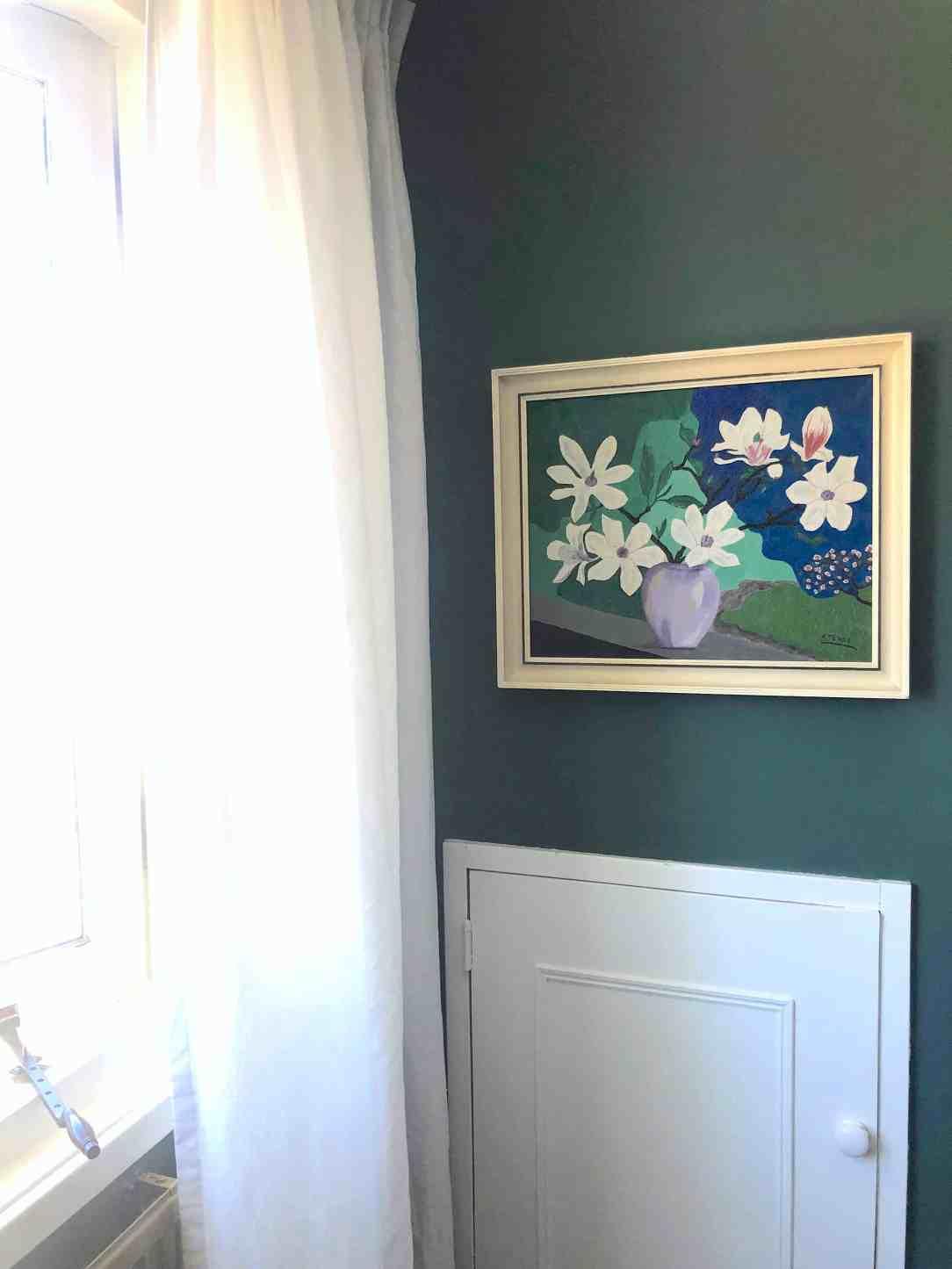 slaapkamer make-over- schilderij