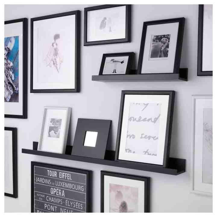 ikea schilderijenplank- lege muur veranderen