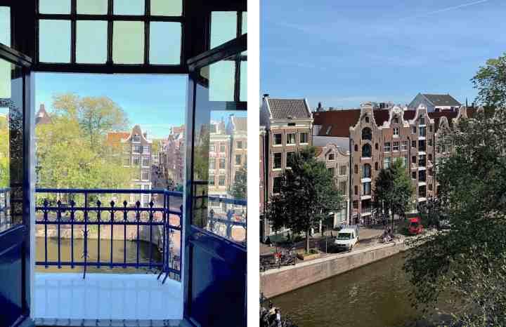 uitzicht Amsterdams grachtenpand