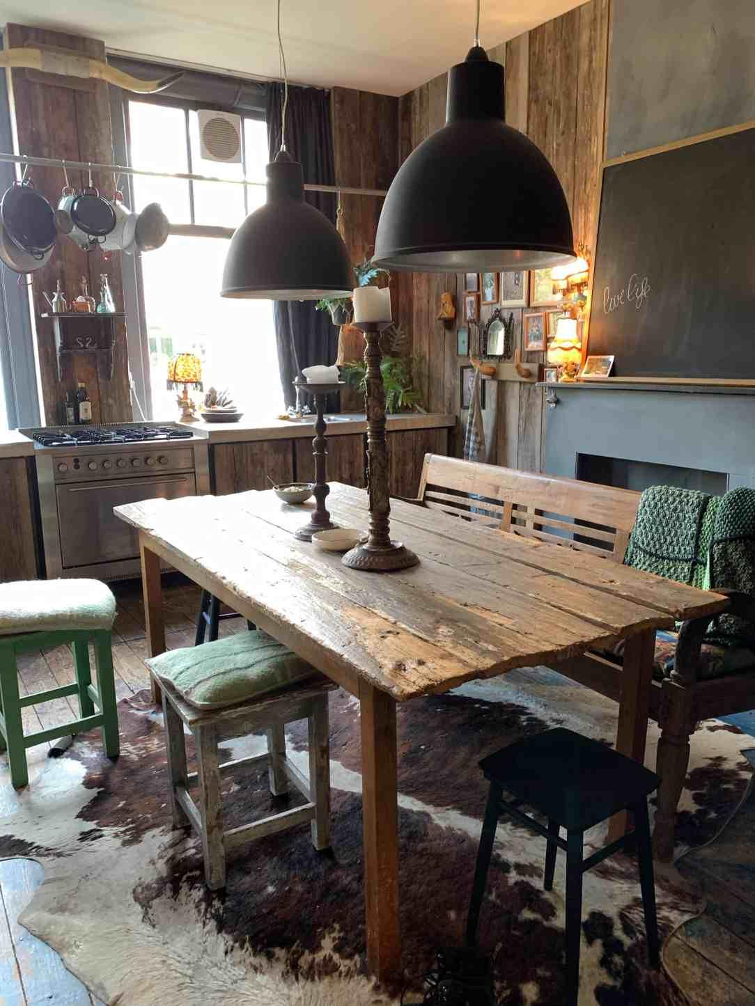keuken met sloophout