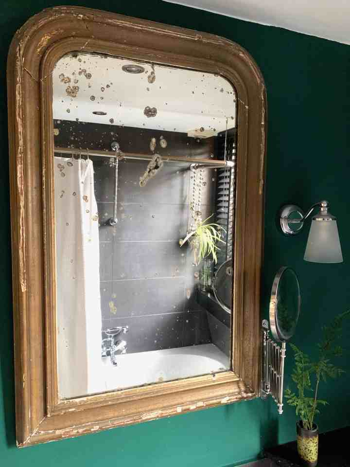Restyle badkamer -antieke spiegel