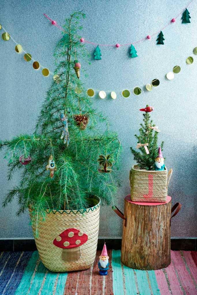 kleurrijk kersthuis