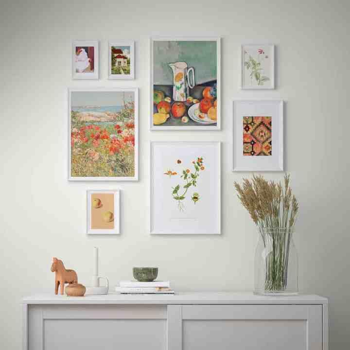 kant & klare gallery wall Ikea