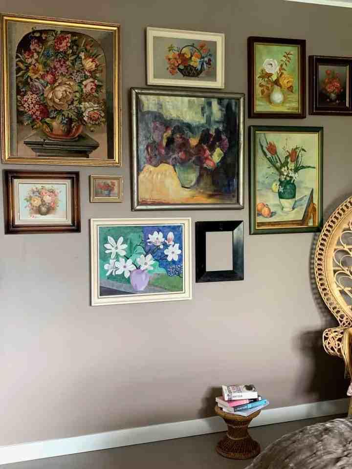 Vintage bloemen schilderijen