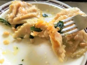 butternut ravioli pine nuts sage