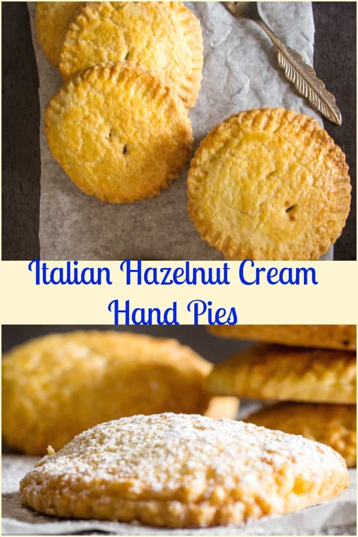 Italian Hazelnut Cream Hand Pies, a traditional Italian Pastry, stuffed with  Nutella, makes them a delicious Snack or Dessert.