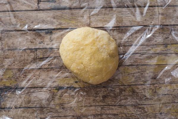 castagnole dough kneaded into a soft dough before resting