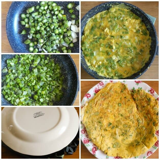 Italian Fresh Asparagus Frittata, the perfect light and healthy brunch idea. A fast and easy vegetable and egg recipe.