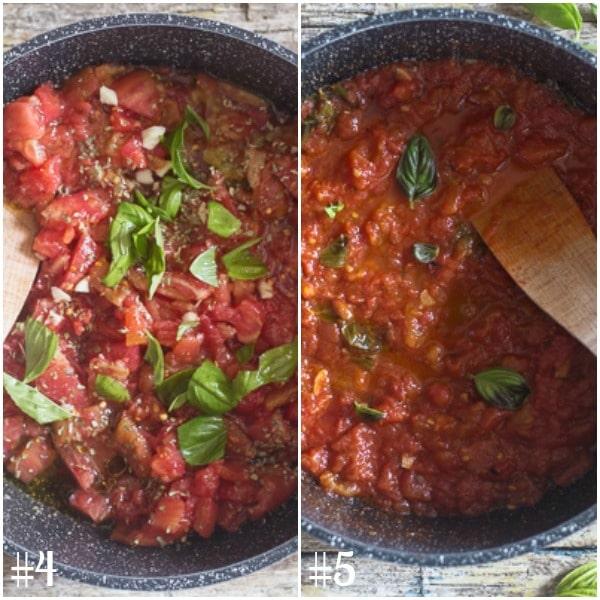 Authentic italian tomato sauce fresh tomatoes