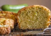 zucchini loaf sliced