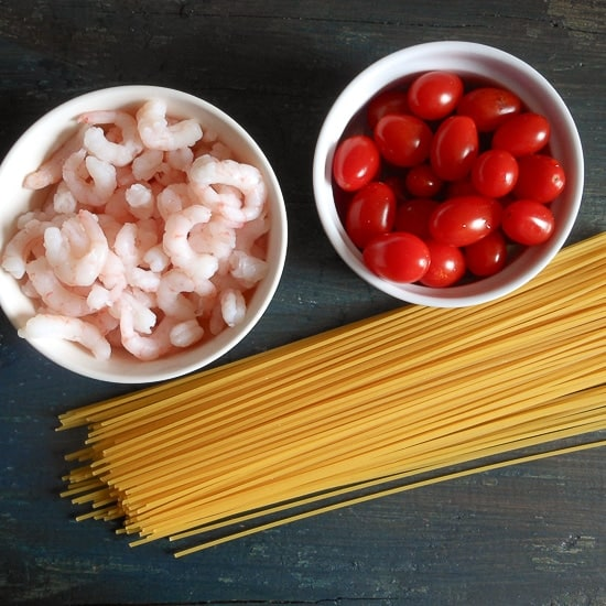 shrimp and tomatoes pasta