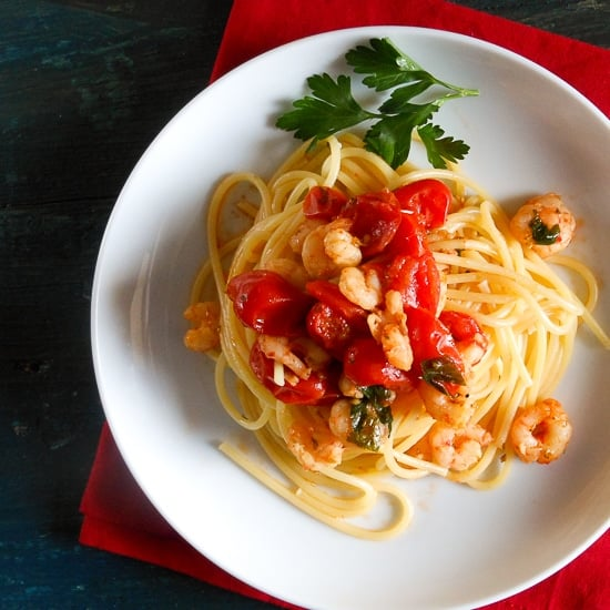 shrimp and tomato pasta