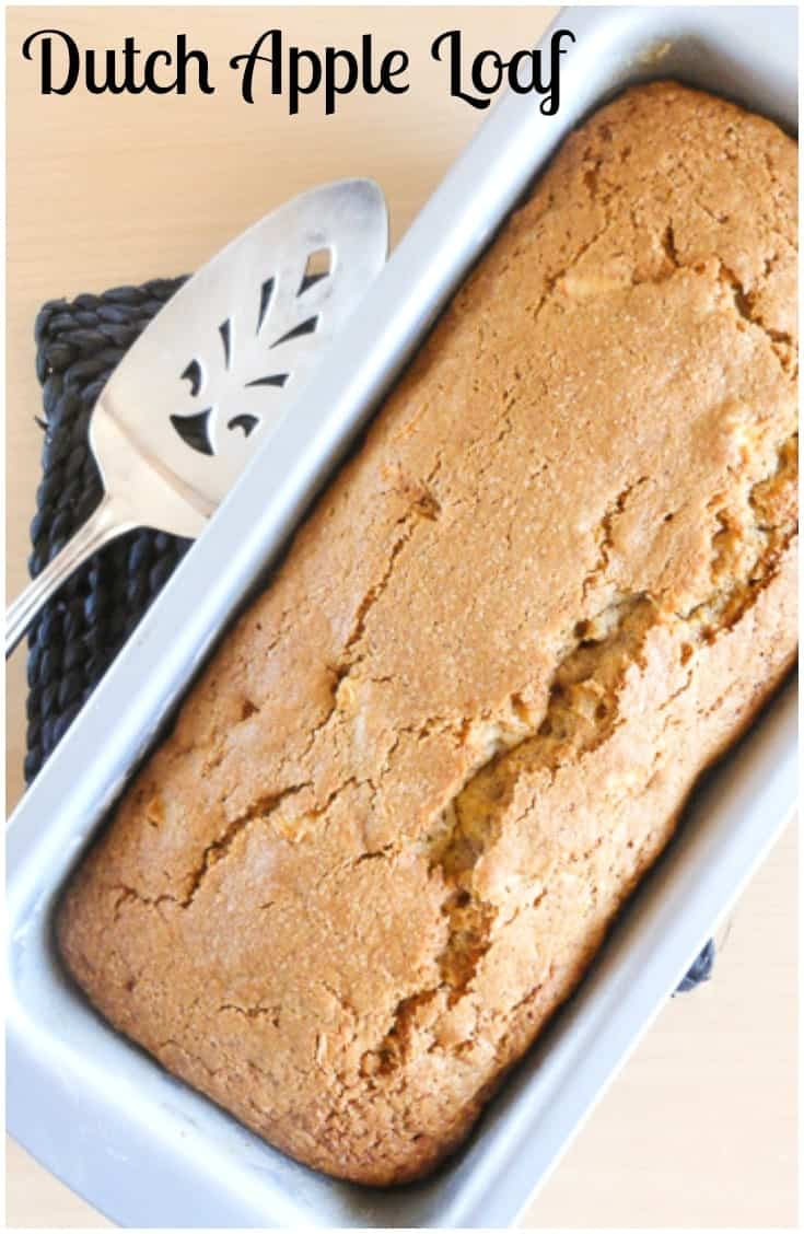 A moist, soft and delicious apple and cinnamon loaf, Dutch Apple Loaf.  The perfect breakfast, snack or dessert bread.