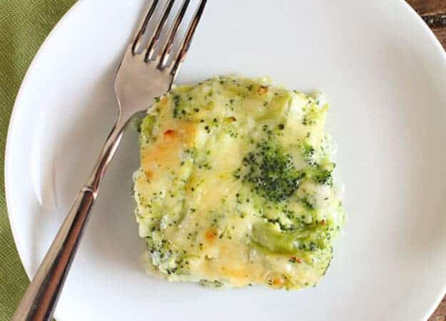 Broccoli Cheese Bake is a delicious creamy and cheesy baked broccoli side dish perfect for a family dinner or get together.