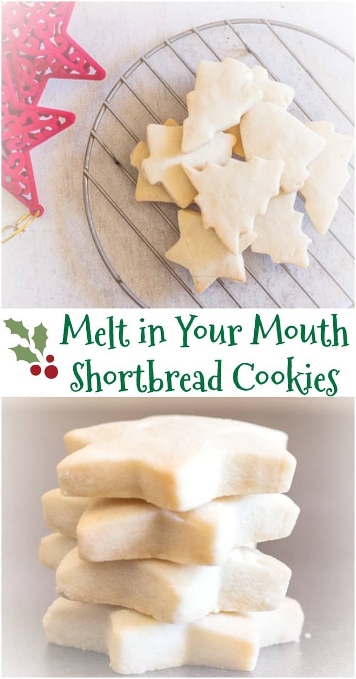 The Best Simple Two Way Shortbread Cookies, the ultimate melt in your mouth #shortbread #cookie. Traditional or brown sugar. Your new #Christmas Shortbread recipe.