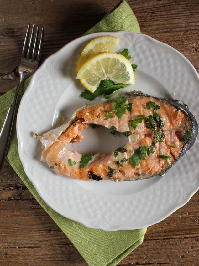 grilled salmon steaks/anitalianinmykitchen