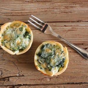 spinach ricotta tarts