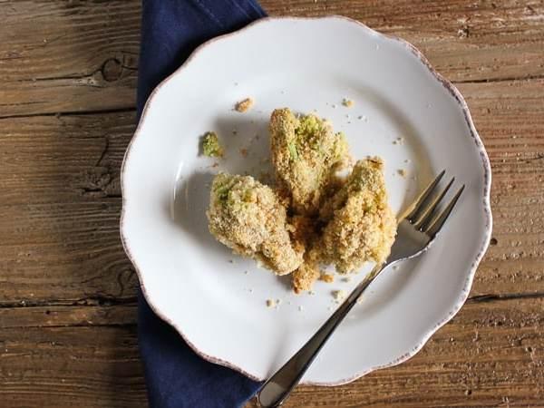 baked breaded broccoli /antalianinmykitchen.com