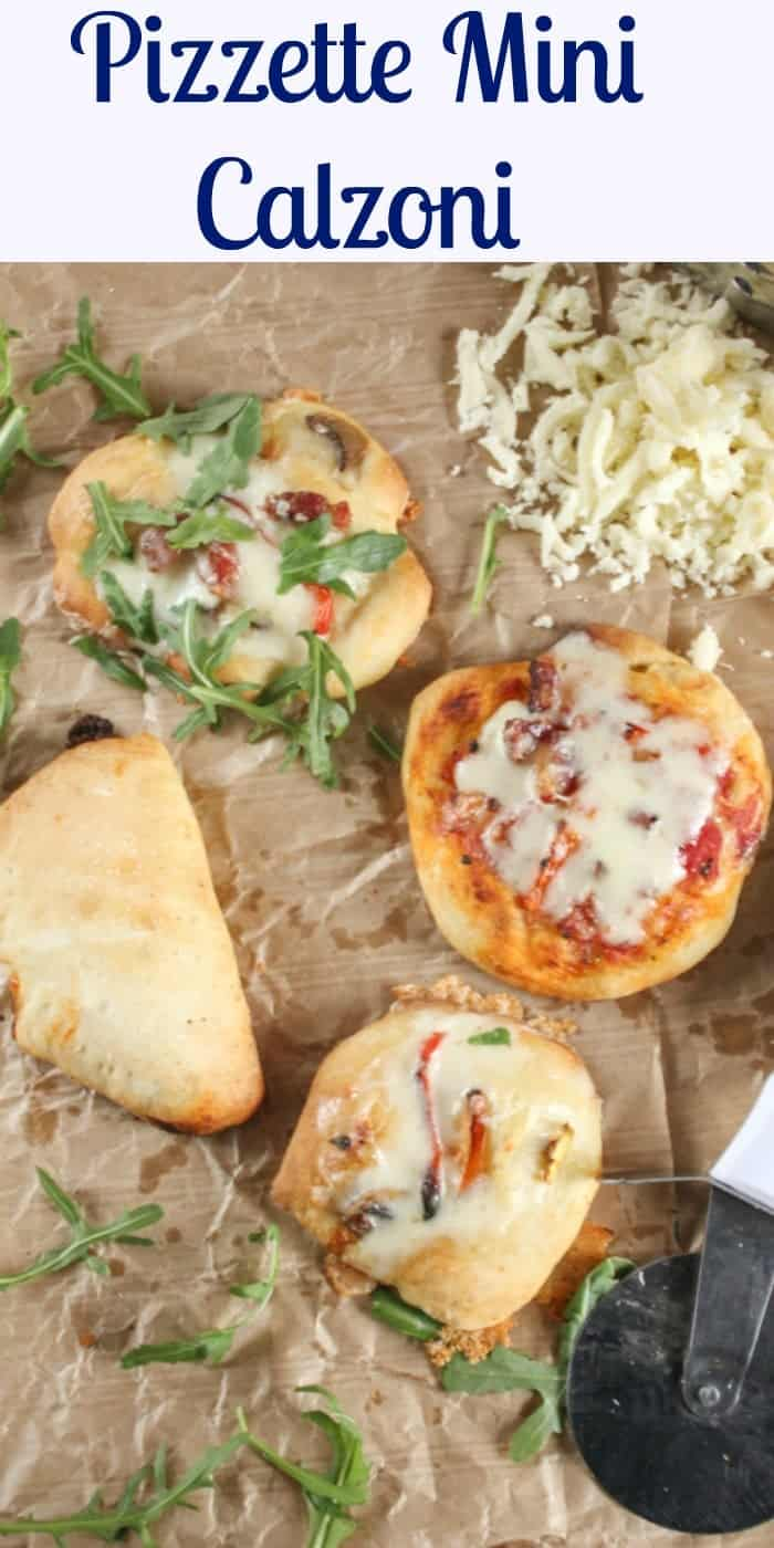 Pizzette Mini Calzoni , mini pizzas and calzoni, easy,delicious appetizers or snacks, perfect for parties or get togethers, kids will love them. |anitalianinmykitchen.com