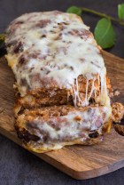 best meatloaf just baked with a slice cut