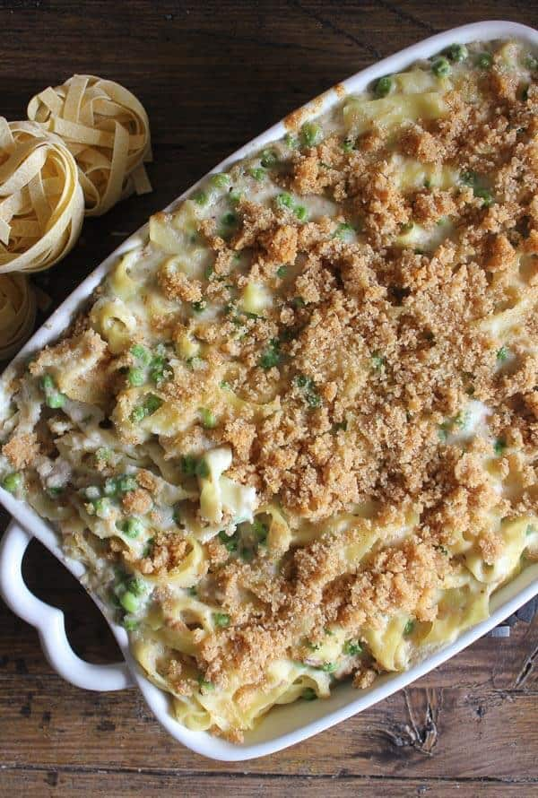 Easy Creamy Tuna Noodle Casserole, quick, easy, healthy and so creamy, a delicious Tuna Casserole. Peas or broccoli make this amazing.