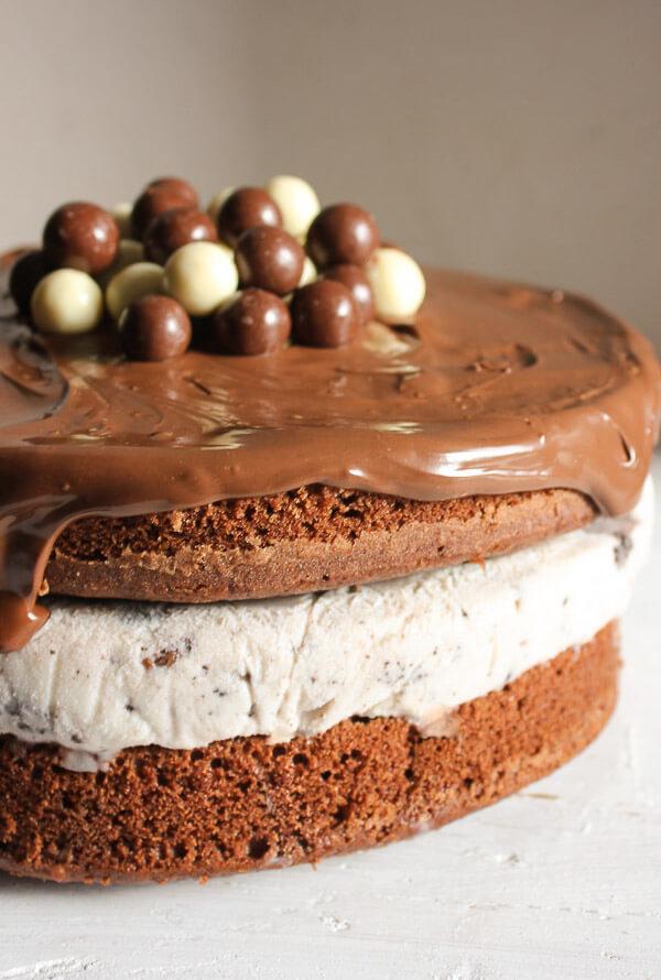 Nutella Kit Kat Oreo Ice Cream Cake