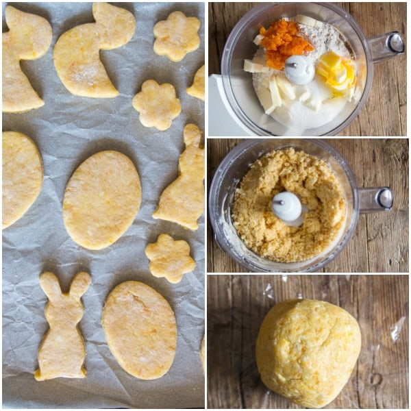 carrot shortbread how to make dough, and cut outs