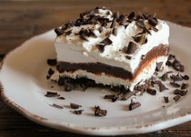 The perfect, Chocolate and Cream with the right touch of Tramisu, can't get enough, best unbaked Chocolate Lasagna Recipe.