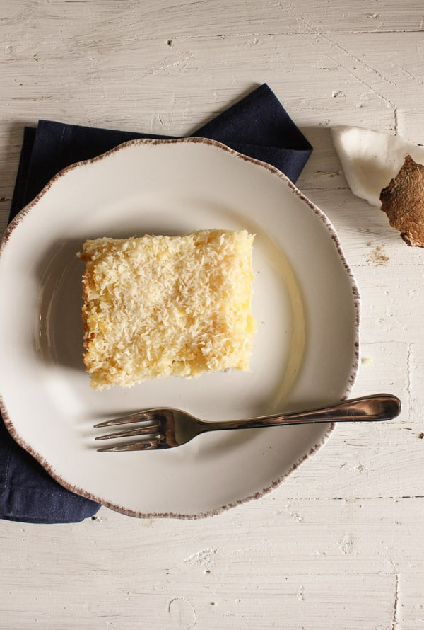 easy pineapple coconut squares/anitalianinmykitchen.com