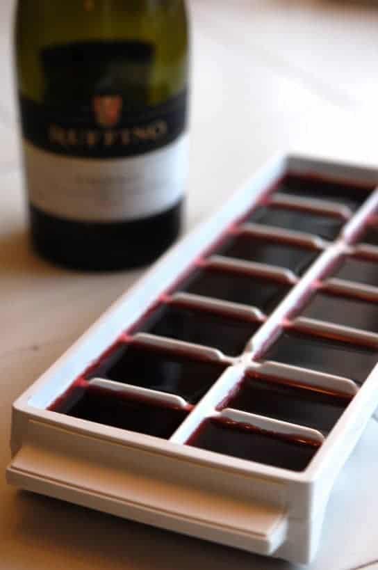 freezing leftover wine