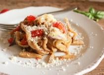 one pot Italian eggplant noodle parmesan